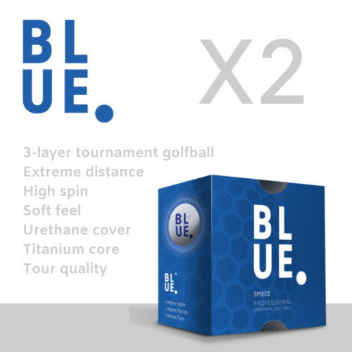 Bluedot X2 3 layer urethane golfball specs